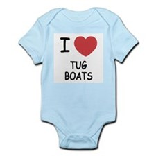 I heart tug boats Infant Bodysuit