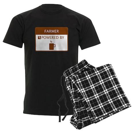 Farmer Powered by Coffee Men's Dark Pajamas