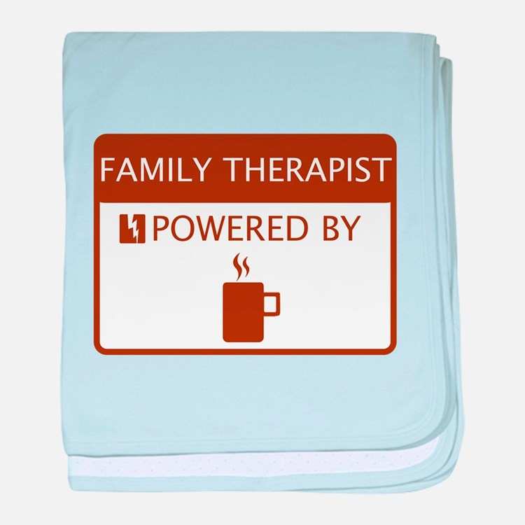 Family Therapist Powered by Coffee baby blanket