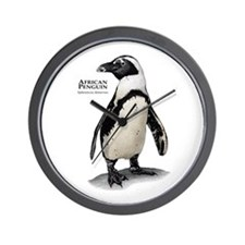 African Penguin Wall Clock