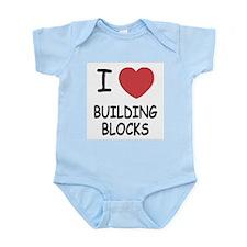 I heart building blocks Infant Bodysuit
