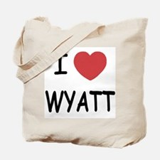 I heart WYATT Tote Bag