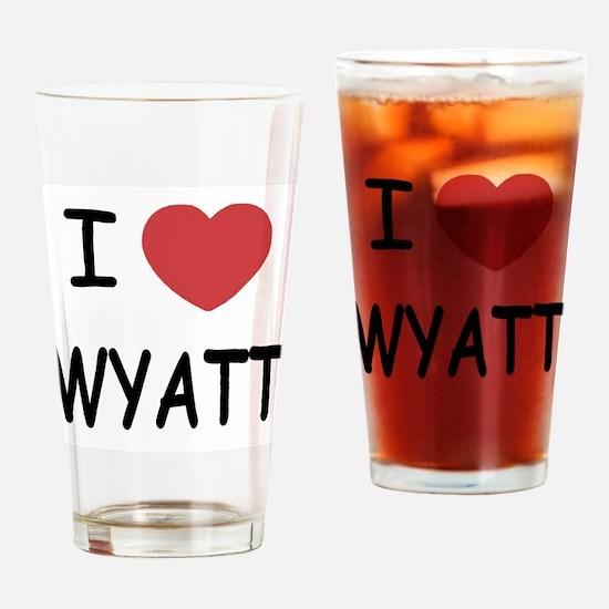 I heart WYATT Drinking Glass