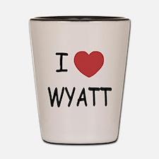 I heart WYATT Shot Glass