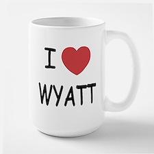 I heart WYATT Large Mug