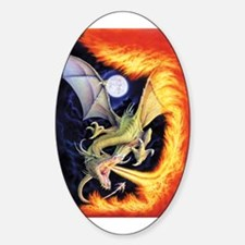 Fire Dragon Oval Decal