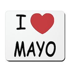 I heart mayo Mousepad