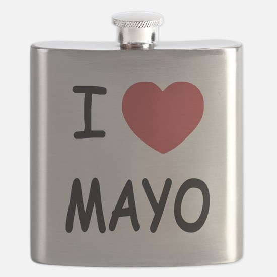 I heart mayo Flask