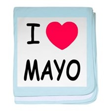 I heart mayo baby blanket