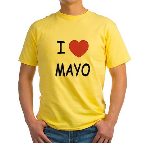 I heart mayo Yellow T-Shirt