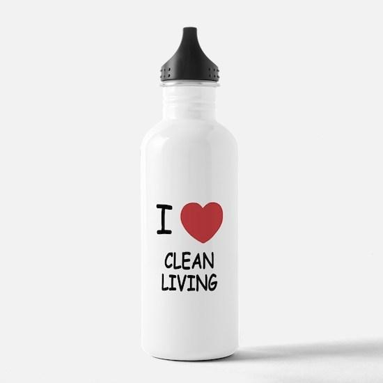 I heart clean living Water Bottle