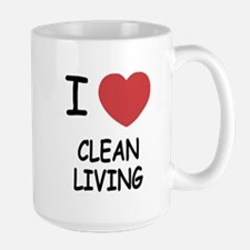 I heart clean living Large Mug