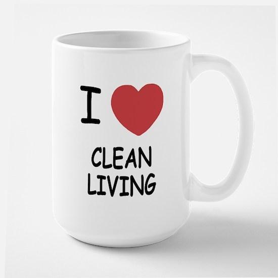 I heart clean living Large Mug