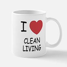 I heart clean living Mug