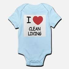 I heart clean living Infant Bodysuit
