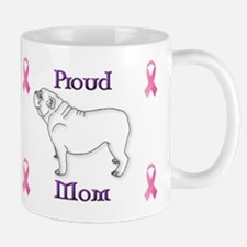 Purple Proud Mom with Ribbon Mug