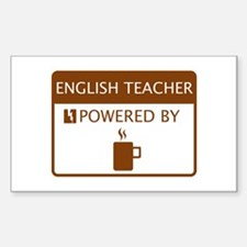 English Teacher Powered by Coffee Decal