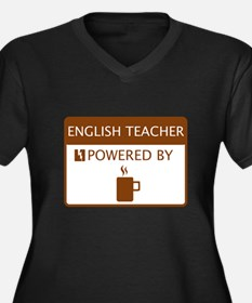English Teacher Powered by Coffee Women's Plus Siz