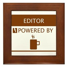 Editor Powered by Coffee Framed Tile