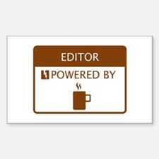 Editor Powered by Coffee Sticker (Rectangle)