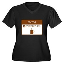 Editor Powered by Coffee Women's Plus Size V-Neck