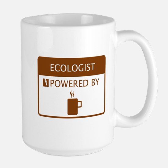 Ecologist Powered by Coffee Large Mug
