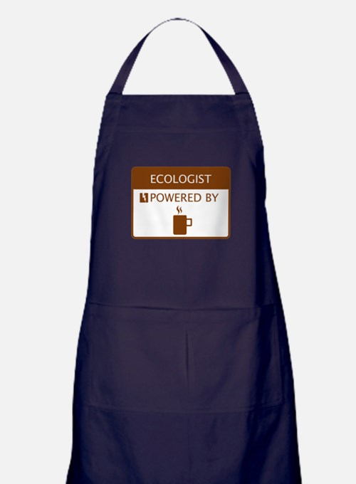 Ecologist Powered by Coffee Apron (dark)