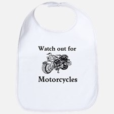 Watch out for motorcycles Bib