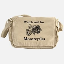 Watch out for motorcycles Messenger Bag