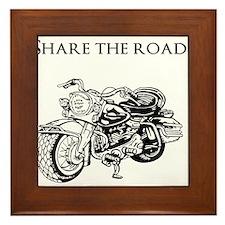 Share the road Framed Tile