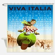 Viva Italy Poster Shower Curtain