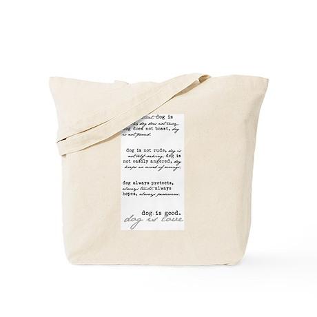 Dog is Love (black) Tote Bag