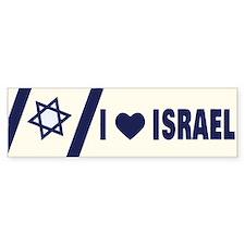 I Heart Israel Bumper Bumper Sticker