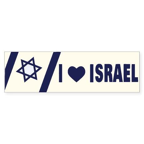 I Heart Israel Bumper Sticker