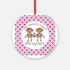 47th Anniversary Love Monkeys Ornament (Round)