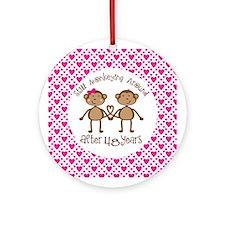48th Anniversary Love Monkeys Ornament (Round)