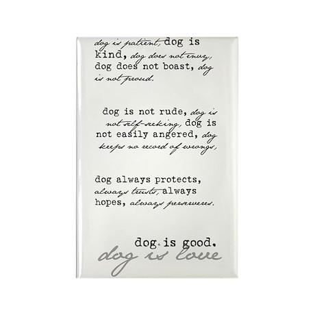 Dog is Love (black) Rectangle Magnet