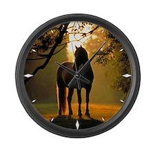 Large Wall Clock - horse