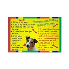 Jack Russell Terrier Property Laws Rectangle Magne