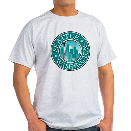 Seattle - Distressed Light T-Shirt