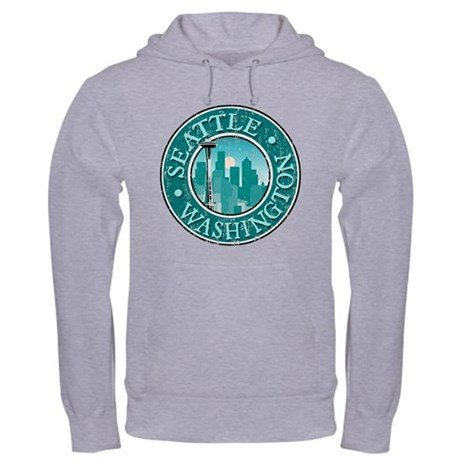 Seattle - Distressed Hooded Sweatshirt