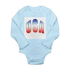 USA Long Sleeve Infant Bodysuit
