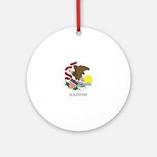 Illinois State Flag Ornament (Round)