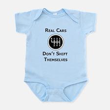 Real Cars Don't Shift Themselves Infant Bodysuit