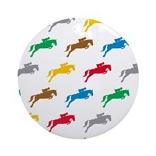 Equestrian Horses Ornament (Round)
