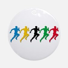Track and Field Runners Ornament (Round)