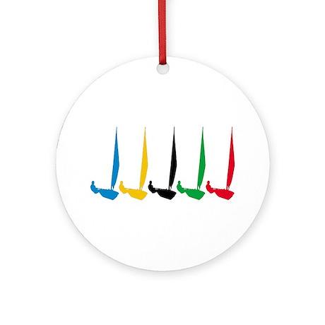 Sailing Regatta Ornament (Round)