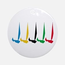Sailing Regatta Ornament (Round)