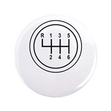 "Real Cars Don't Shift Themselves (wht) 3.5"" Button"
