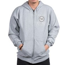 Real Cars Don't Shift Themselves (wht) Zip Hoody